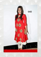 Alia Bhatt Red Hot Anarkali Suit BWA040