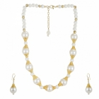Sai Arisha White Pearl Neckpiece Set With Earrings RH015