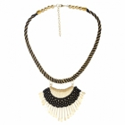 Sai Arisha Stylish Black Long Neck Piece RH018B