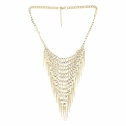 Sai Arisha Multilayer Golden Neck Piece RH026