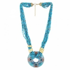 Sai Arisha Beaded Blue Maltilayer Neckpiece RH028BLUE