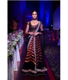Jomso Black Georgette And Micro 9000 Velvet Lehenga JOM285M7