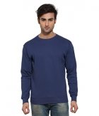 Clifton Mens Ribbed Sweat Shirt-Blue-R-Neck AAA00021469