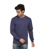 Clifton Mens Ribbed Sweat Shirt-Lavender-R-Neck AAA00021484