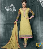 Admire18 Embroidered Heavy Designer Partywear Straight Suit 152