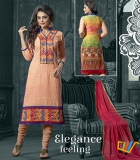 Admire18 Embroidered Heavy Designer Partywear Straight Suit 153