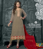 Admire18 Embroidered Heavy Designer Partywear Straight Suit 157