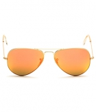 Superdeals Golden Frame And Orange Glass Aviator Sunglasses For Men And Women SD282