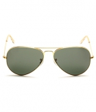 Superdeals Golden Frame And Regular Black Glass Aviator Sunglasses For Men And Women SD283
