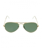 Superdeals Golden Frame And Regular Green Glass Aviator Sunglasses For Men And Women SD285