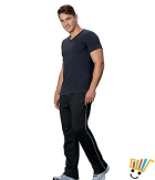 Jockey Solid Sport Mens Track Pants 9501 Black Grey