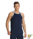 Jockey Sport Mens Vest 9925 Blue Grey