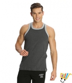 Jockey Sport Mens Vest 9925 Charcoal Grey