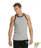 Jockey Sport Mens Vest 9925 Grey Black