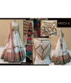 Beautiful White Heavy Net Dupatta Net Lehenga ET-9504