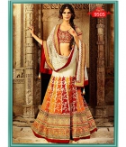 Beautiful White Colorfull Net Dupatta Net Lehenga ET-9505