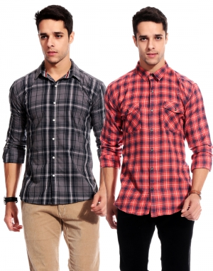 Goodkarma Regular Check Cotton shirt DFSC 445