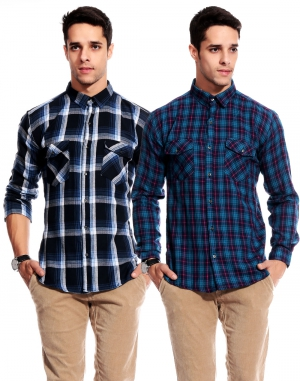 Goodkarma Regular Check Cotton shirt DFSC 446