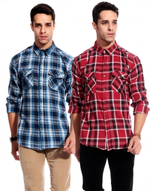 Goodkarma Regular Check Cotton shirt DFSC 447
