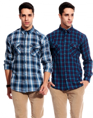 Goodkarma Regular Check Cotton shirt DFSC 448