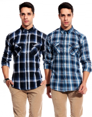 Goodkarma Regular Check Cotton shirt DFSC 449