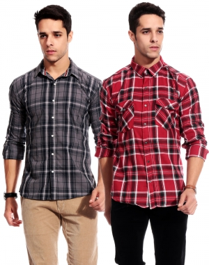 Goodkarma Regular Check Cotton shirt DFSC 450
