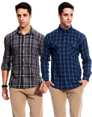 Goodkarma Regular Check Cotton shirt DFSC 452