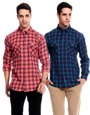 Goodkarma Regular Check Cotton shirt DFSC 453