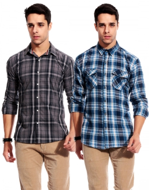 Goodkarma Regular Check Cotton shirt DFSC 454