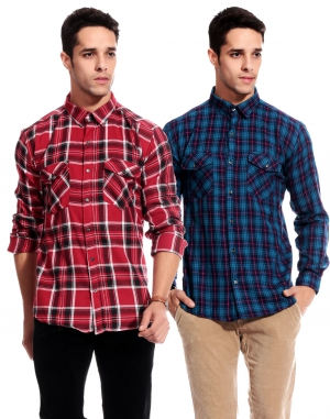 Goodkarma Regular Check Cotton shirt DFSC 455