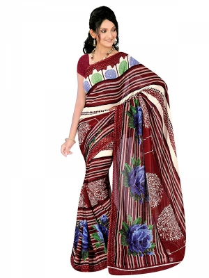 Shonaya  Multicolour Georgette Printed Sarees With Blouse Piece ARCLE-1049