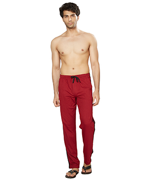 Clifton Mens Coloured Track Pant-Maroon AAA00017937