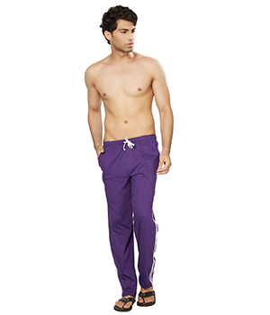 Clifton Mens Coloured Track Pants-Purple AAA00016076