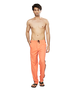 Clifton Mens Coloured Track Pants-Deep Orange AAA00016091