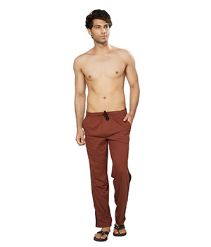 Clifton Mens Coloured Track Pants-Brown AAA00016111