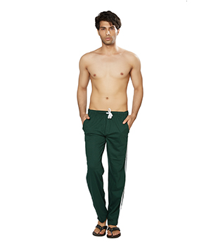 Clifton Mens Coloured Track Pants-Bottle Green AAA00016126