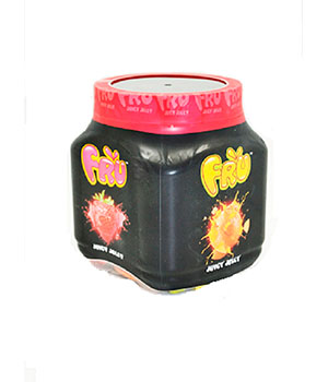 Pack of 2 FRU Juicy Jelly Candy Assorted Small Jar 190 gram A BABA Product BA006