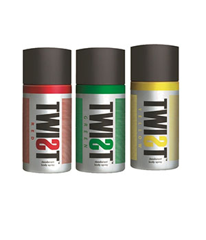 TWIST Combo Pack of Deodorant Red Green Yellow A BABA PRODUCT BA013