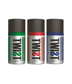 TWIST Combo Pack of Deodorant Red Green Blue A BABA PRODUCT BA015
