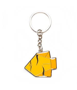 Daffodils The Yellow Fish Key Chain Yellow Orange D90