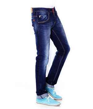 223 Hardy Boys Jeans Mens Denim Cotton Stretch Mid Raw Blue HBJ010