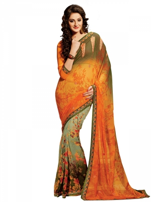 Shonaya Multicolour Georgette Embroidered Sarees With Blouse Piece SGDN2-4851