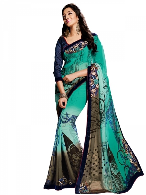 Shonaya Multicolour Georgette Embroidered Sarees With Blouse Piece SGMN2-4893