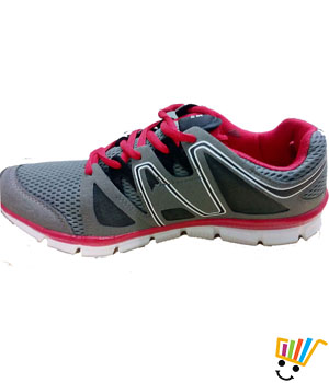 Columbus Zenith Sports Shoes Grey Red