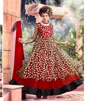 Fabliva Fabulous Latest Heavy Designer Red Anarkali Suits FAS159-7701