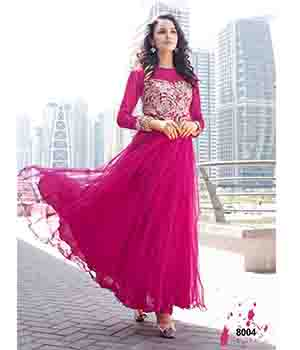 Fabliva Fabulous Latest Heavy Designer Dark Pink Anarkali Suits FAS162-8004
