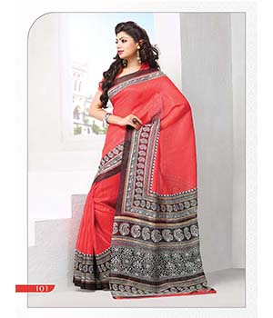 Fabliva Latest Attractive Red Designer Saree  FDS115-101