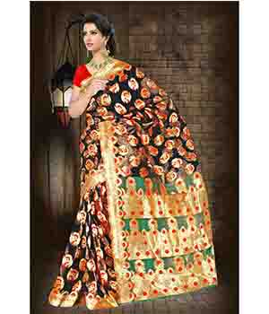 Fabliva Kora Silk Attractive Multi Colour Designer Saree  FDS117-1606