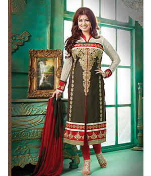 Whatshop New Amazing Bollywood Mehndi Long Straight Suit  WS1073-109