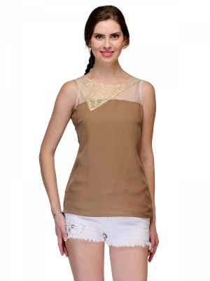 Raas Pret Brown Georgette Party Wear Top RPSS15_12B